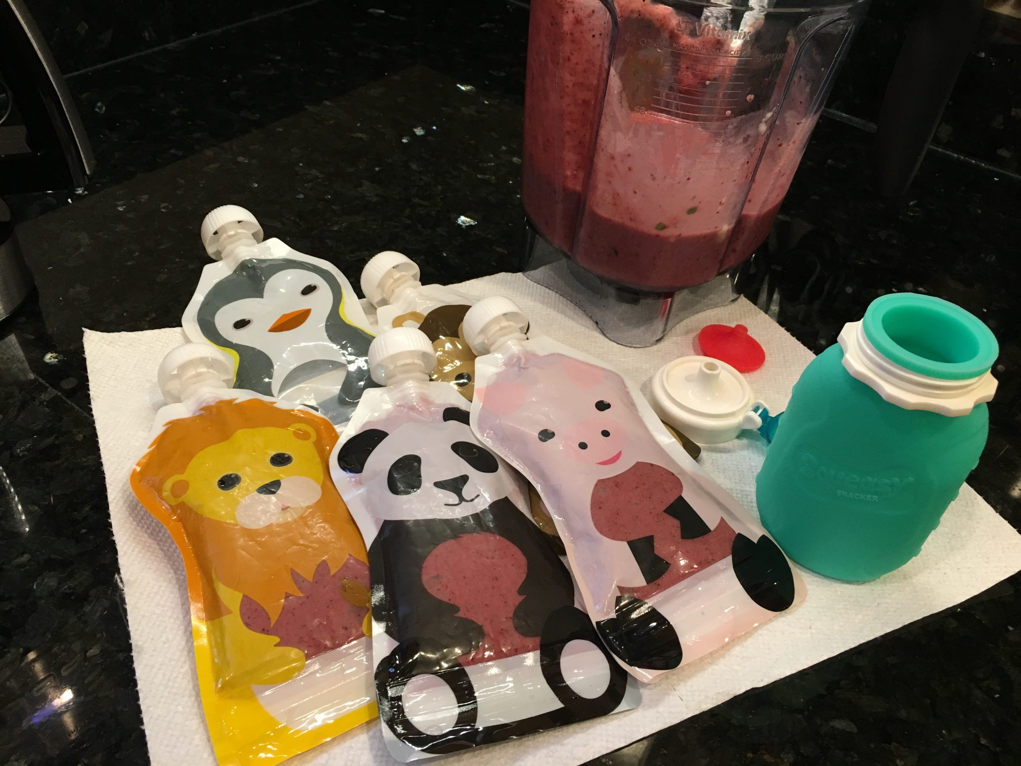 Reusable Baby Food Pouches Spread